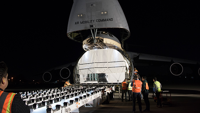 AEHF-4 Arrives in Florida, Prepares for Launch